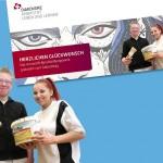 Glückwunschkarte für Schüler in einem Berufsbildungswerk