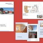 Broschüre für ein Bauprojekt in der Schweiz