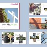 Broschüre zur aussergewöhnlichen Entstehungsgeschichte der Weidenkirche in Hannover