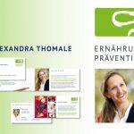 Alexandra Thomale – Logogestaltung und Drucksachen für eine Ernährungs- und Präventionsberaterin in Hannover